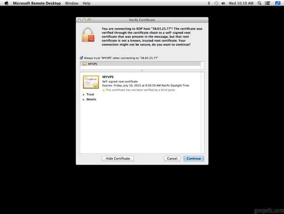 Как подключиться через MAC OS X
